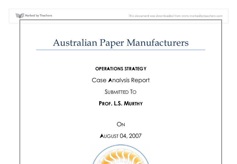 Australian Paper has a proud history in local paper manufacturing.