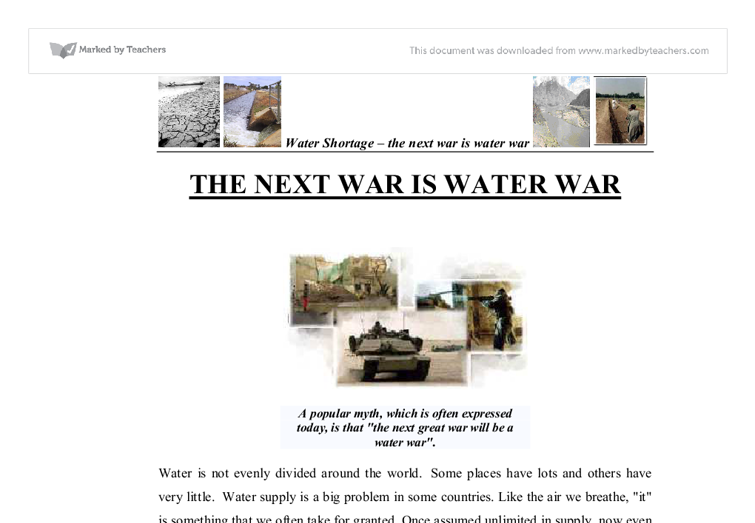 Essay on water management
