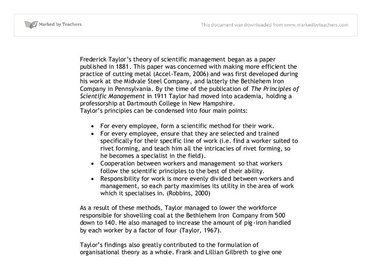 Fw taylor management theory pdf reader