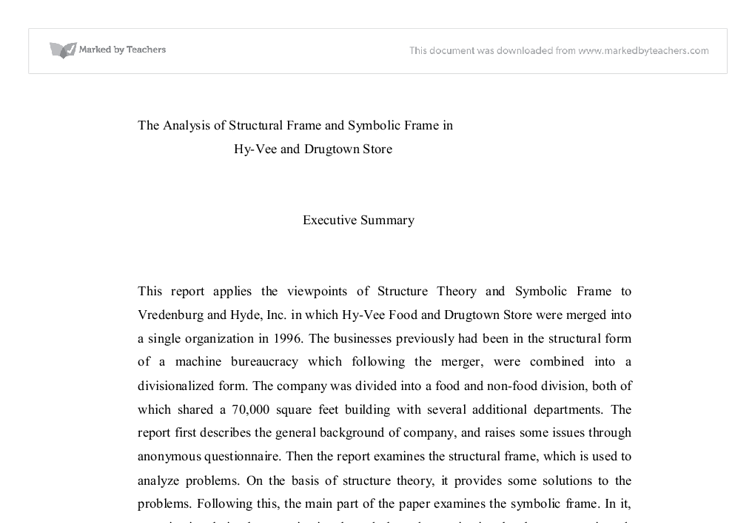 The Analysis of Structural Frame and Symbolic Frame in Hy-Vee and ...