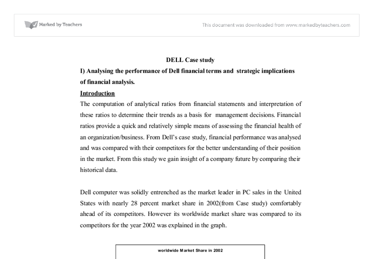 dell financial analysis essays Financial analysis essay - stop receiving bad grades with these custom term paper tips instead of having financial analysis paper on dell financial analysis.