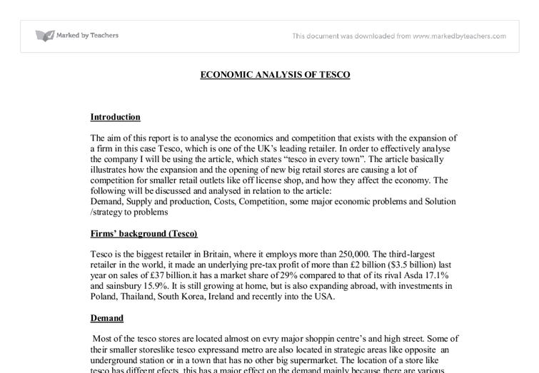 business analysis of tesco Pestel is an abbreviation for political, economic, social, technology, environmental, and legal factors influencing the company this business essay applies pestel analysis to evaluate the environment of tesco political factors stand for the impact of the government on the business (dooley & dransfield, 2006).