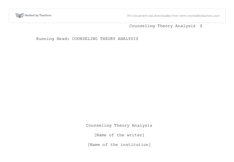 counselling essays degree