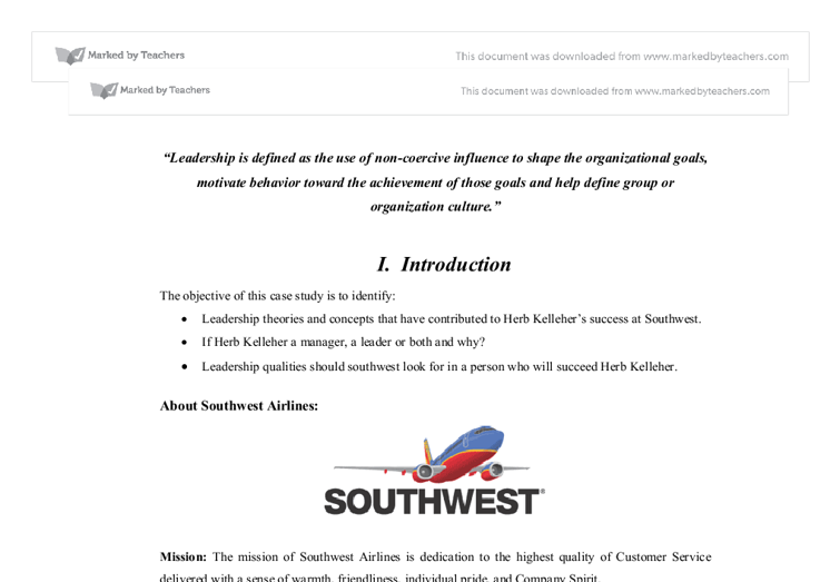 southwest airlines case study essay A classroom presentation of the legendary harvard business case study on southwest airlines my experience with essay services southwest airlines case study.