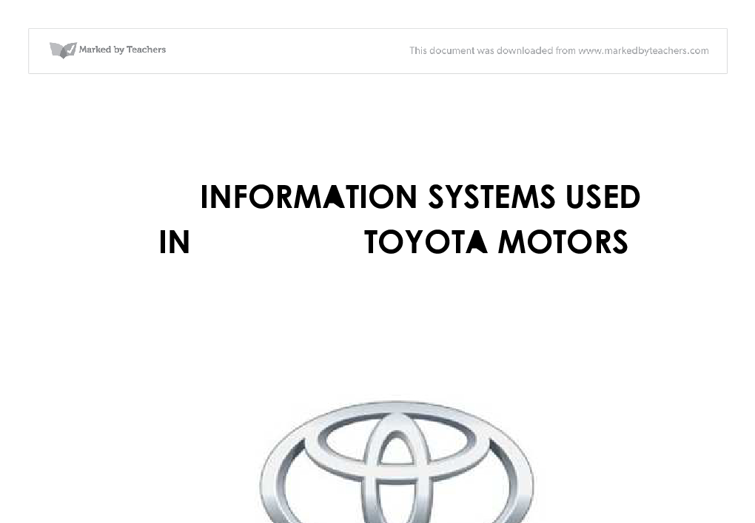 enterprise rent a car total quality management university information system used in toyota motors