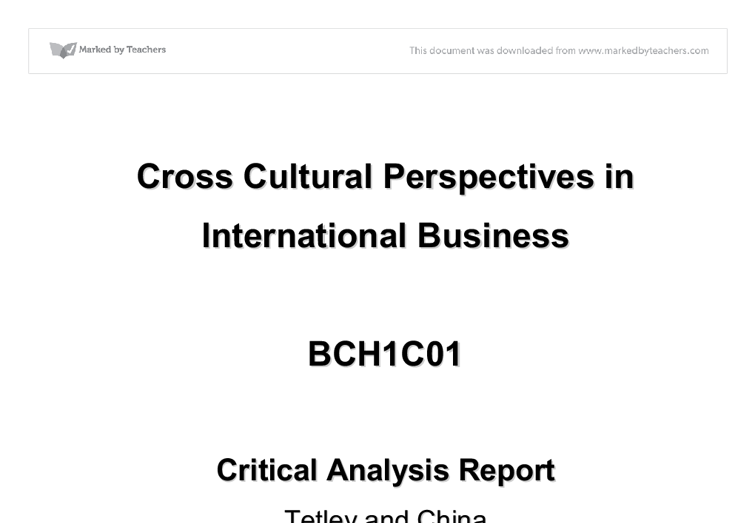 Critical analysis report for best buy