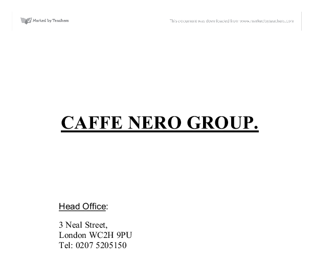 caffe nero group ltd analysis Importgenius has the complete import/export history of caffe nero group ltd their august 16, 2016 shipment to cafe nero americas inc in boston, ma contained 1092kg of coffee shop wares and furniture.