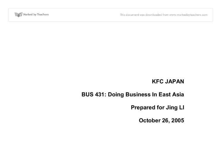 1 what is your evaluation of the way kfc is managing its international operations Try these tactics to retain your employees financing & investing building your business feeling connected to the organization's goals is one way to keep employees mentally and emotionally tied to your company managing today's young adults at your small business.