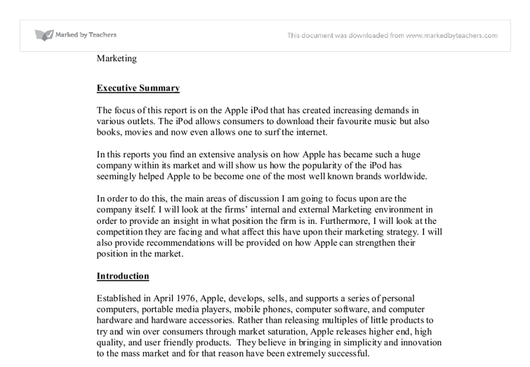apple computer marketing essay Free essay on apple ipod marketing plan available totally free at echeatcom, the largest free essay community.