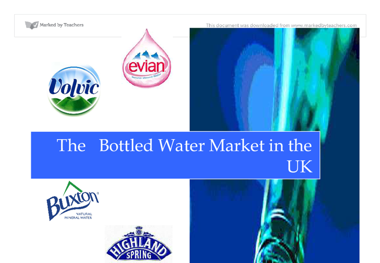 analysis of the bottled water industry essay Argumentative essay workers may make money in the water bottle industry, but compared to the price paid on producing and selling bottled water.