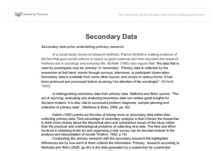secondary research essay This report from the law library of congress contains guidelines on researching secondary legal resources of united states law, including words & phrases, legal.