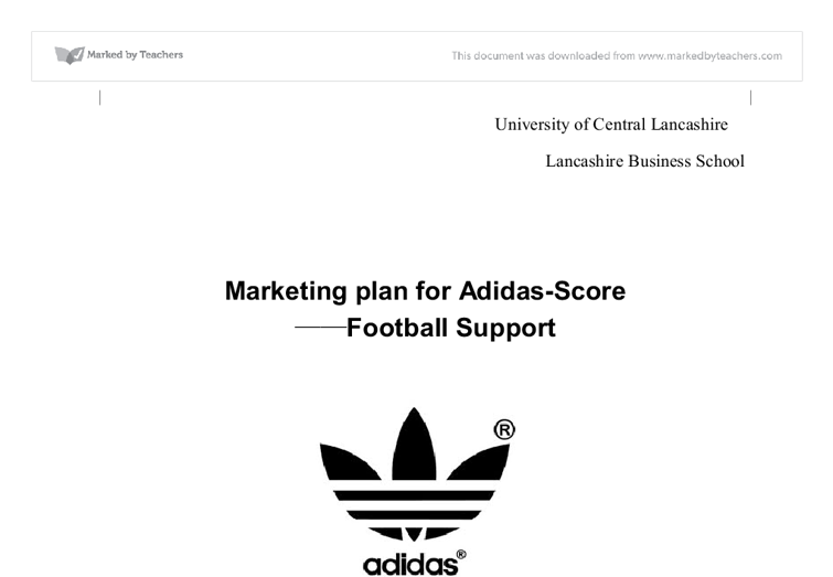 Addidas marketing plan - University Business and Administrative