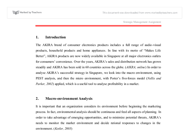 analyse akira s successful strategy in singapore look into the document image preview