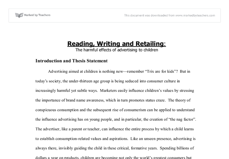 thesis statement on effectiveness of advertising The 20 best advertising thesis topic ideas for college students choosing an apt thesis topic is the first step to success state whether neurolinguistic programming used in advertising is effective alcohol and tobacco advertising: to be or not to be.