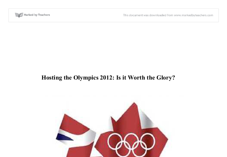 hosting the olympics essay