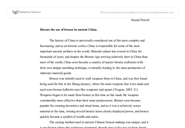 China essay intro