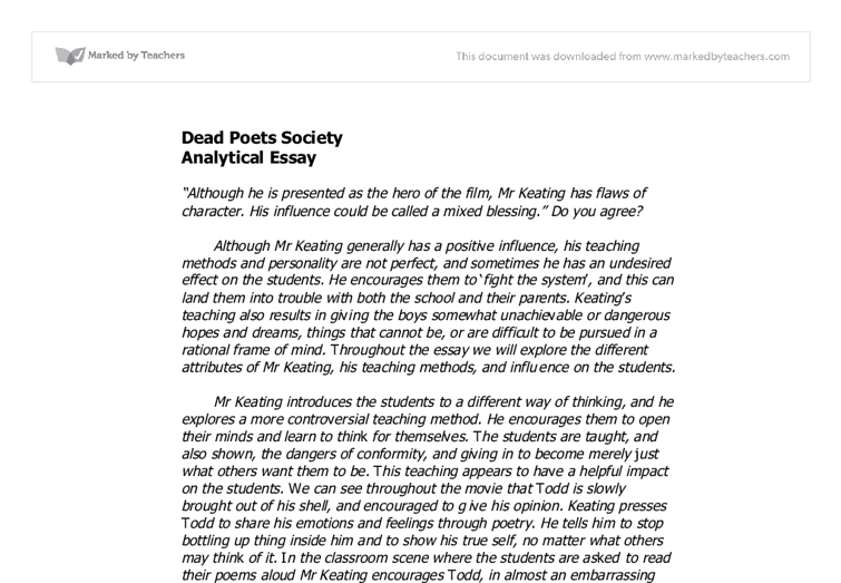 dead poets society battle conformity and non c