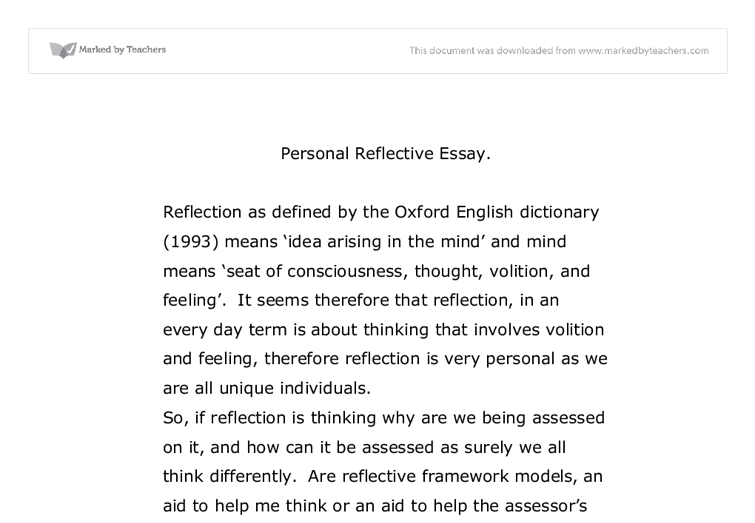Self Reflection Essay Sample Reflective How To Write A Example Istituto  Comprensivo di Acquasparta