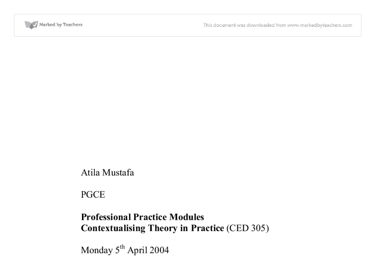 contextualising theory in practice essay Identify and analyse evidence based practice social work essay ebp is about underpinning practice with the best knowledge  in contextualising culturally.