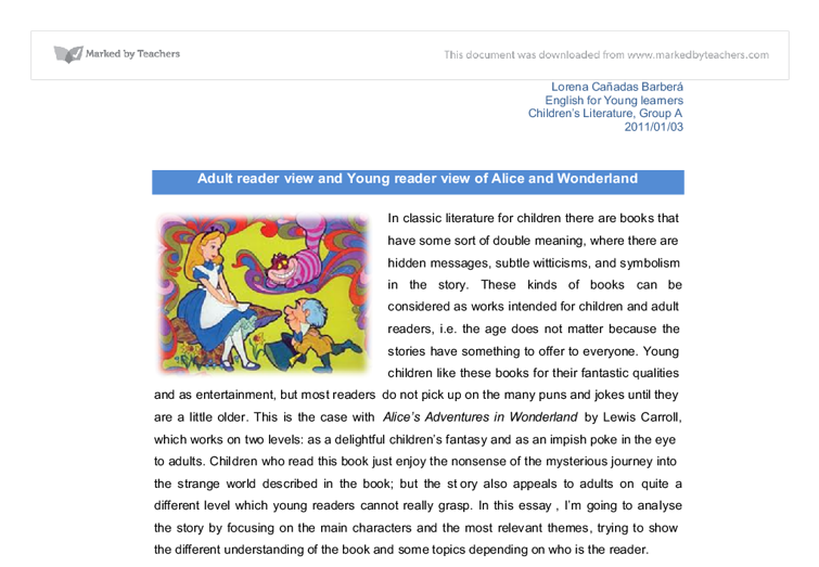 Alice and Wonderland Essays Examples