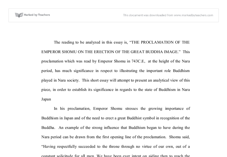 the proclamation of the emperor shomu on the erection of the great  document image preview