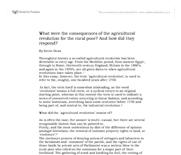 what were the consequences of the agricultural revolution for the document image preview