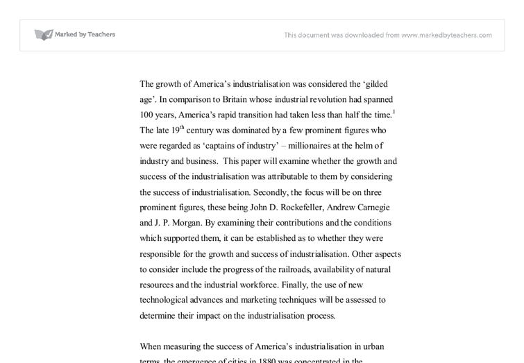 the growth of america s industrialisation was considered the  document image preview