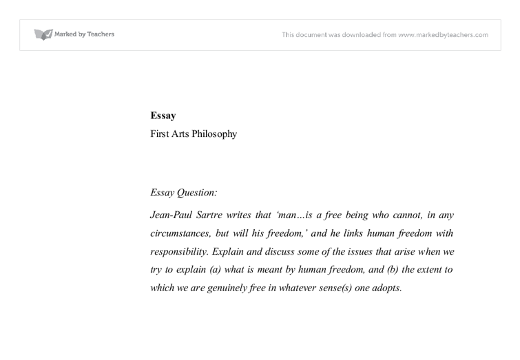 jean paul sartre human dom university historical and document image preview