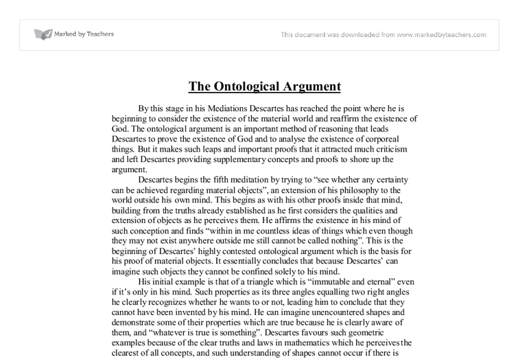 anselms philosophy essay Still, while few philosophers find the argument convincing, there  well, you  might look up an essay on anselm by one cora diamond, whose.