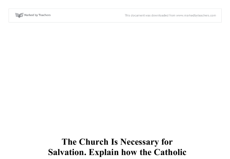 full view of salvation essay The plan of salvation teaches that we lived with god before coming to this earth learn how god sent his son, jesus christ, to overcome sin and death, and how you.