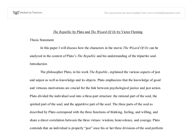 plato s republic and the wizard of oz university historical and  document image preview