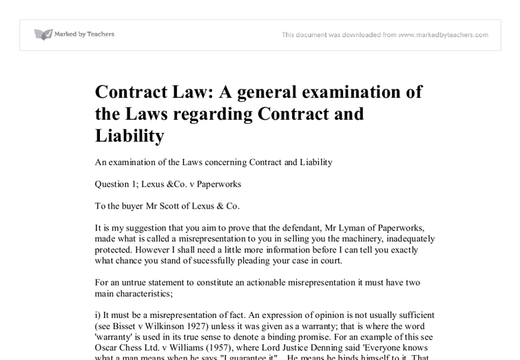 tort and contractual liability