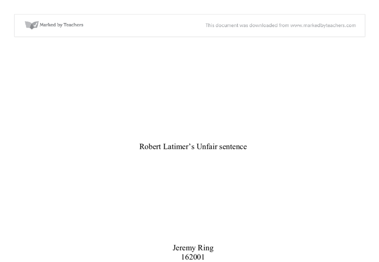 Essay on robert latimer