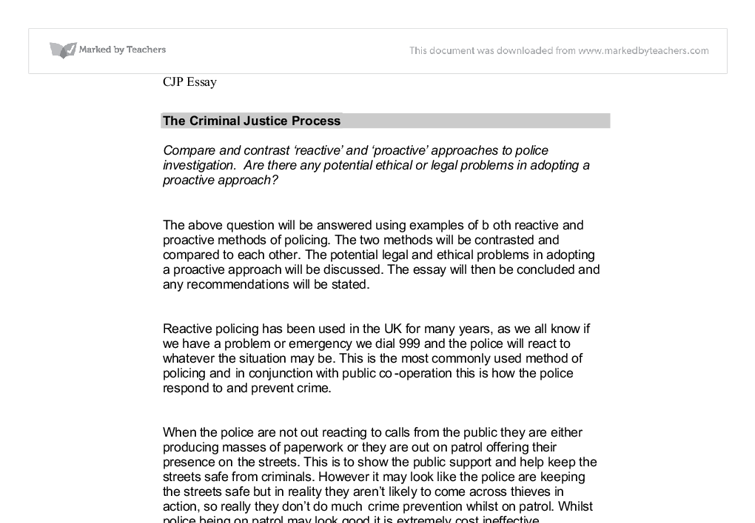 criminal justice process 2 essay Never written a criminal justice essay before take a look at criminal justice essay samples bestessayhelpcom offers and pick out ideas for your own paper.