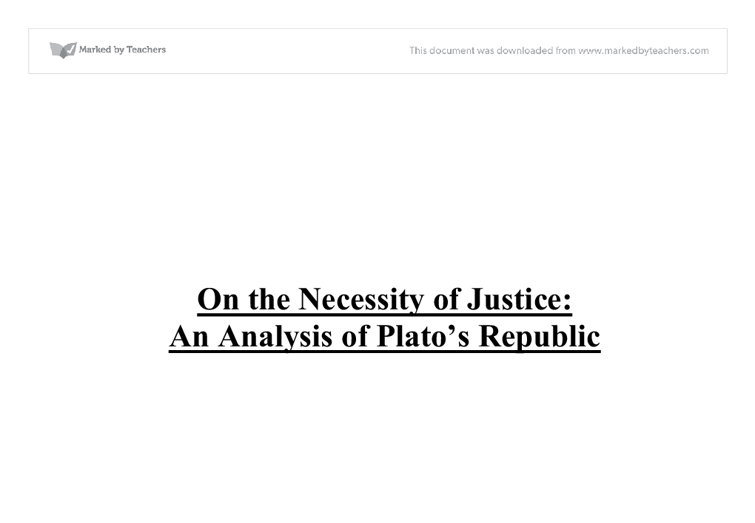 analisys of the republic by plato The republic plato the republic literature essays are academic essays for citation these papers were written primarily by students and provide critical analysis of the republic.