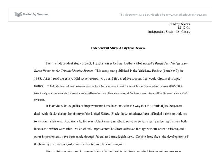 Response Essay Thesis Document Image Preview Example Thesis Statements For Essays also High School Personal Statement Sample Essays For My Independent Study Project I Read An Essay By Paul Butler  Sample Of An Essay Paper