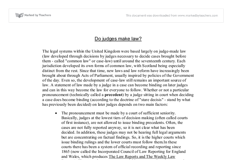 Uk legal system essay