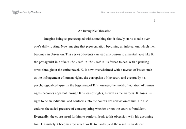 obsession essays [this essay was done for my english 101 class and had to be 1000 words long though during sometimes the writing might seem forced and dry it was because i.