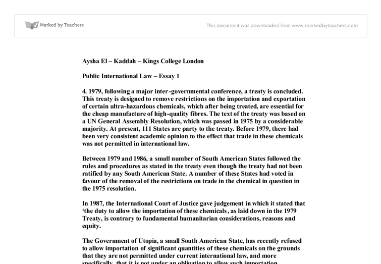 is international law really law essay Petallides, c j (2012) international law reconsidered: is international law actually law inquiries journal/student pulse, 4(12.