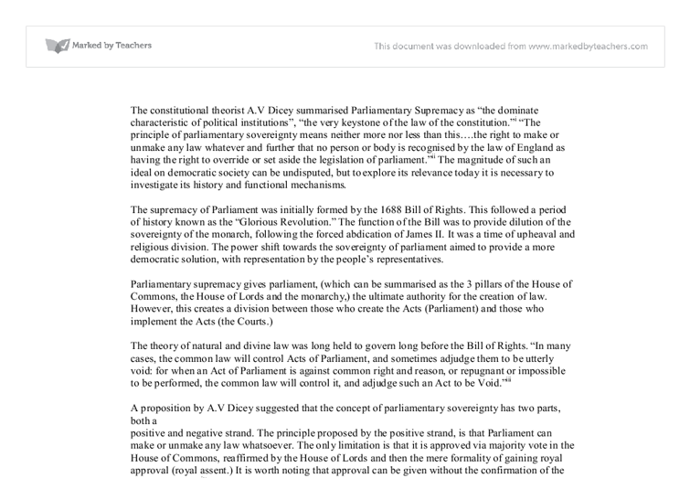 parliamentary sovereignty essay conclusion (parliamentary sovereignty essay example | topics and well written essays - 1000 words) .