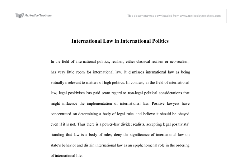 university international law essays