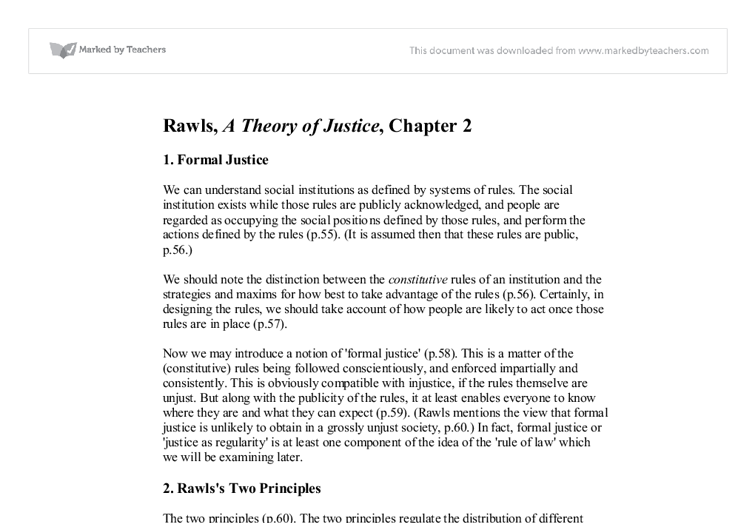 a review of john rawls justice as fairness Originally published in philosophical review vol lxvii 1958 - steve bayne (hist-analyticorg justice as fairness by john rawls (1958) 1 it might seem at first sight that the concepts of justice and fairness are the same, and that there is no reason to distinguish them, or to say that one.
