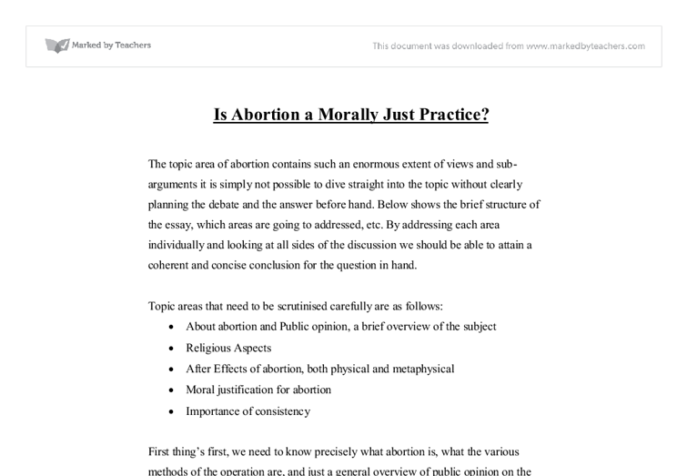 Abortion is Morally and Ethically Wrong