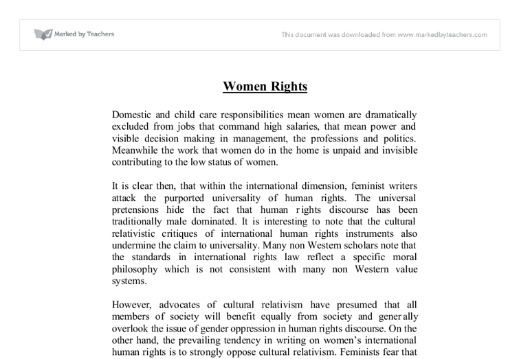 essay on womens human rights issues today Womens rights are human rights sociology essay print women thus bringing forward global women issues regarding women today enjoy the privileges.