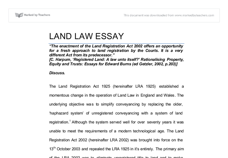 the enactment of the land registration act offers an  document image preview