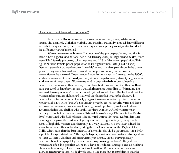 special needs prisoners essay example Excerpt from essay : special needs, mentally ill, and substance-abusing prisoners affect the jail and prison systems at state and federal levels.