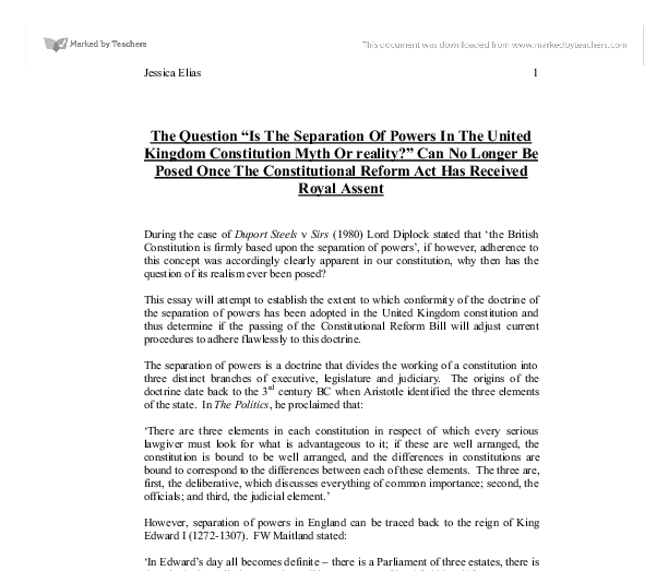 the question is the separation of powers in the united kingdom  document image preview