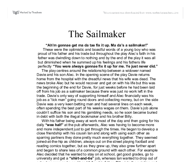 sailmaker essay plan