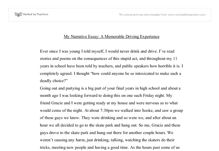 a memorable driving experience university linguistics classics document image preview