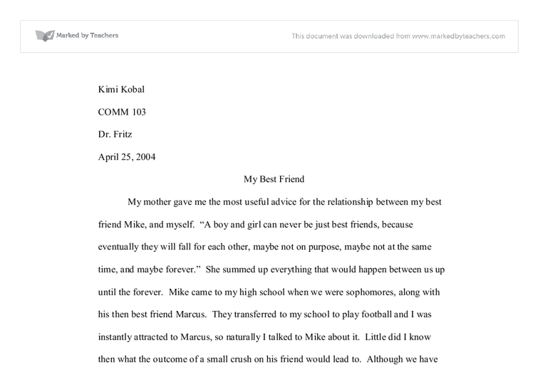 Atlanta Essay about best friend in french